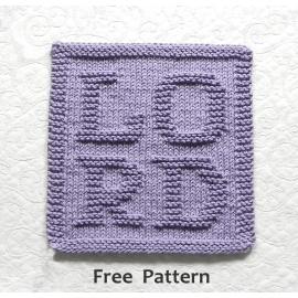 LORD Knitting Pattern for Prayer Cloth, Free pattern