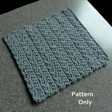 Waves Crochet Pattern, Free Dishcloth Pattern