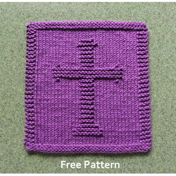 Christian CROSS Knit Cloth Pattern, Free